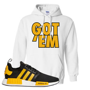 NMD R1 Active Gold Hoodie | White, Got Em