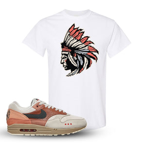 Air Max 1 Amsterdam City Pack Sneaker White T Shirt | Tees to match Nike Air Max 1 Amsterdam City Pack Shoes | Indian Chief
