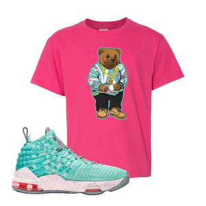 LeBron 17 'South Beach' Kid's T Shirt | Heliconia, Sweater Bear