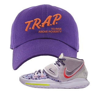Kyrie 6 Asia Irving Dad Hat | Trap To Rise Above Poverty, Purple