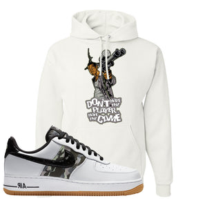 Air Force 1 Low Camo Hoodie | Don't Hate The Playa, White