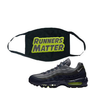 Air Max 95 Midnight Navy / Volt Face Mask | Black, Runners Matter