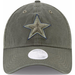 dallas cowboys salute to service kids sizes dad hat with cowboys logo embroidered on the front