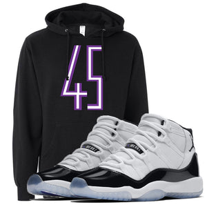 Match your pair of Jordan 11 Concord 45 sneakers with this sneaker matching Concord 11 hoodie