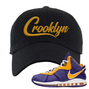 Lebron 8 Lakers Dad Hat | Crooklyn, Black