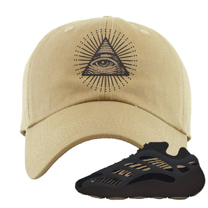 Yeezy 700 v3 Eremial Dad Hat | All Seeing Eye, Khaki