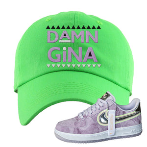Air Force 1 P[her]spective Dad Hat | Neon Green, Damn Gina