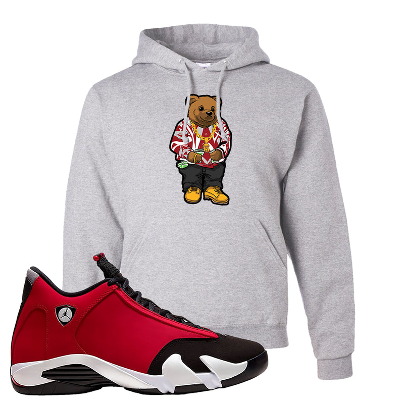 Air Jordan 14 Gym Red Hoodie | Ash, Sweater Bear