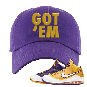 Lebron 7 'Media Day' Dad Hat | Purple, Got Em
