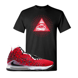 Lebron 17 Uptempo T Shirt | Black, All Seeing Eye