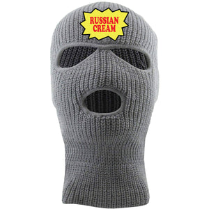 Backwoods Russian Cream Light Gray Ski Mask