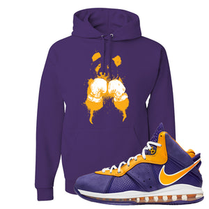 Lebron 8 Lakers Hoodie | Boxing Panda, Purple