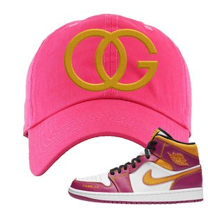 Air Jordan 1 Mid Familia Dad Hat | OG, Hot Pink