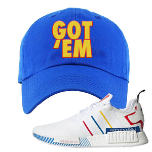 NMD R1 Olympic Pack Dad Hat | Royal Blue, Got em