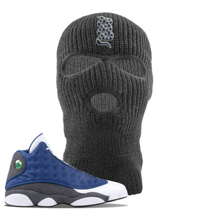 Jordan 13 Flint 2020 Sneaker Dark Gray Ski Mask | Winter Mask to match Nike Air Jordan 13 Flint 2020 Shoes | Coiled Snake
