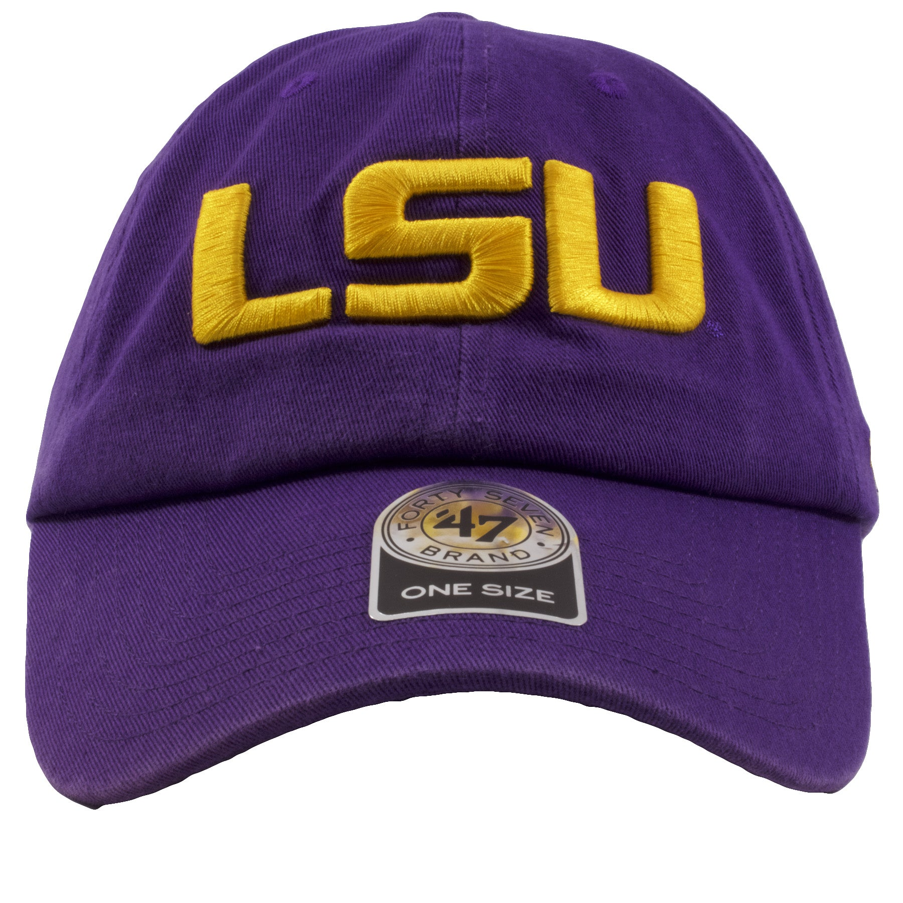 cb26c3aed5fb6 ... coupon code for embroidered on the front of the louisiana state  university dad hat is the
