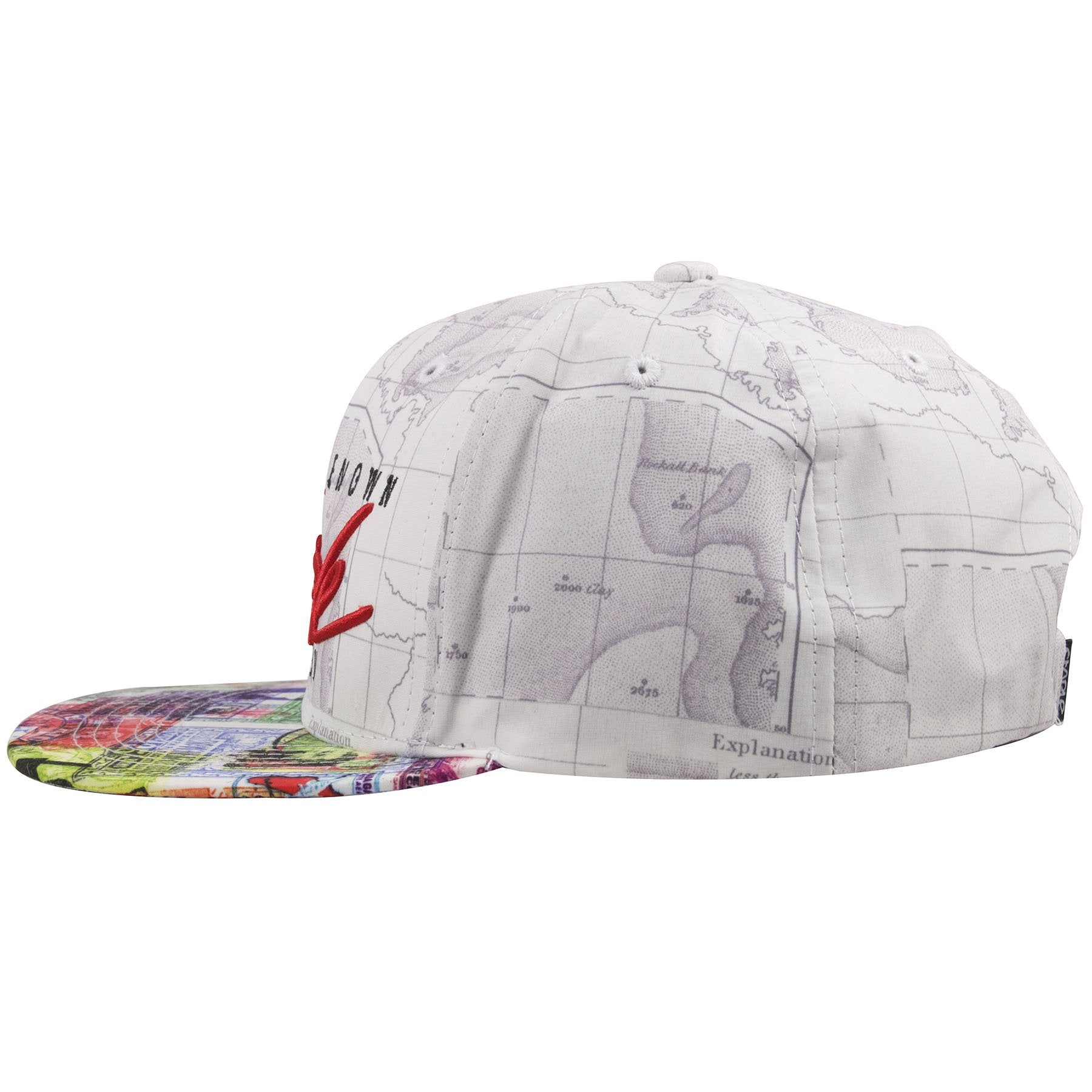 c7ca3a5bfbe ... The sides of this streetwear Staple Pigeon Hat shows a continuation of  the world map.