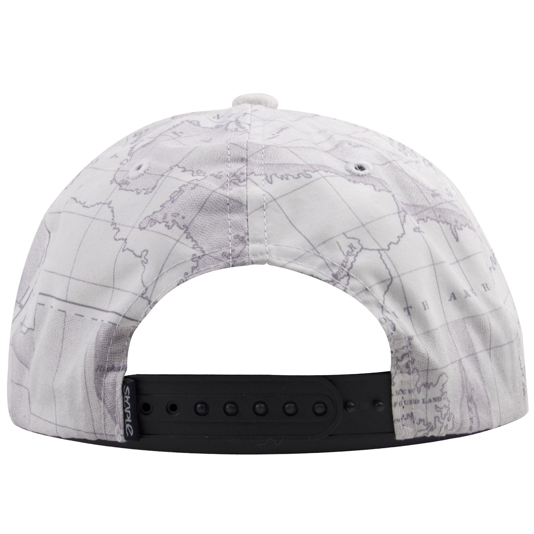 73976442c91 ... Staple Pigeon Hat shows a continuation of the world map. The back of  this streetwear fashion snapback hat shows a black adjustable snap.