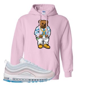 Air Max 97 DIY Flare Hoodie | Light Pink, Sweater Bear