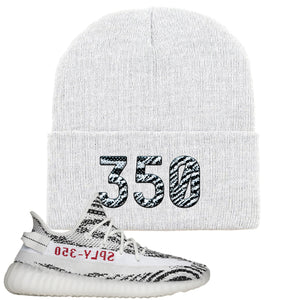 Yeezy Boost 350 V2 Zebra 350 White Sneaker Hook Up Beanie