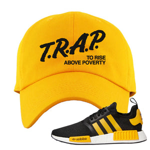 NMD R1 Active Gold Dad Hat | Gold, Trap To Rise Above Poverty