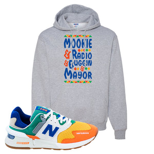 997S Multicolor Sneaker Athletic Heather Pullover Hoodie | Hoodie to match New Balance 997S Multicolor Shoes | Mookie and Gang