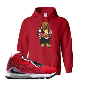 Lebron 17 Uptempo Hoodie | Red, Sweater Bear