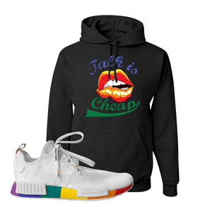 NMD R1 Pride Hoodie | Black, Talk Is Cheap