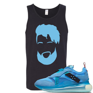 Air Max 720 OBJ Slip Light Blue Tank Top | Black, OBJ Head