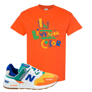 997S Multicolor Sneaker Orange T Shirt | Tees to match New Balance 997S Multicolor Shoes | In Living Color