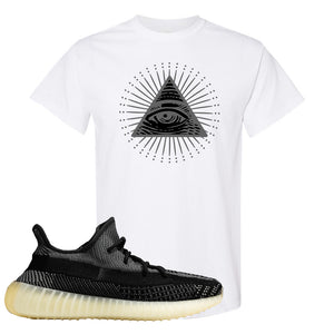 Yeezy Boost 350 v2 Carbon T Shirt | All Seeing Eye, White
