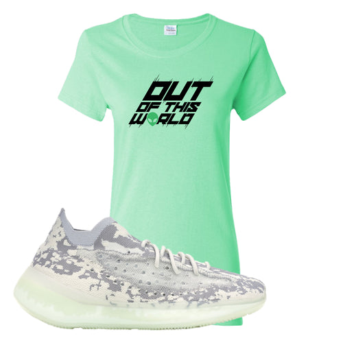 Yeezy Boost 380 Alien Outta This World Mint Green Sneaker Matching Women's T-Shirt