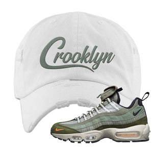 Air Max 95 Surplus Supply Distressed Dad Hat | Crooklyn, White