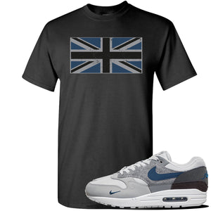 Air Max 1 'London City Pack' Sneaker Black T Shirt | Tees to match Nike Air Max 1 'London City Pack' Shoes | Union Jack Flag