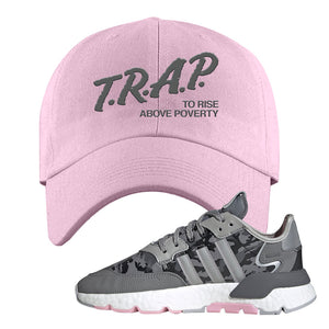 WMNS Nite Jogger True Pink Camo Dad Hat | Light Pink, Trap to Rise Above Poverty