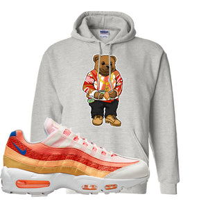 Air Max 95 Orange Snakeskin Hoodie | Sweater Bear, Ash