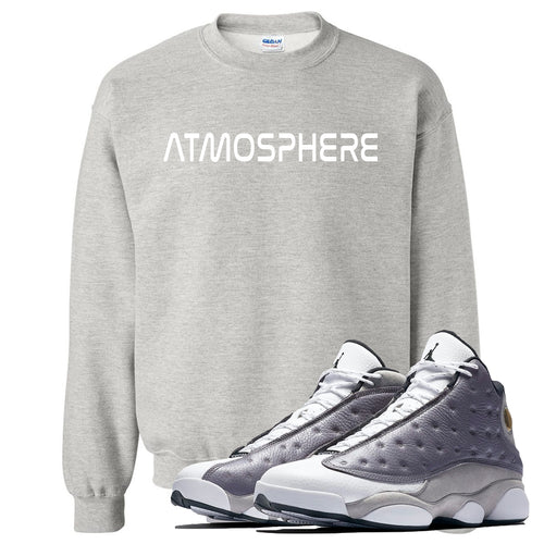 "Jordan 13 Atmosphere Grey ""Atmosphere"" Light Gray Crewneck"