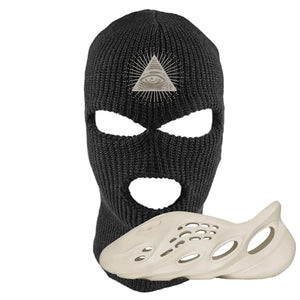 Yeezy Foam Runner Sand Ski Mask | All Seeing Eye, Black