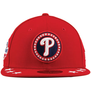 Philadelphia Phillies 2018 Work Out Patch Scarlet Red 59Fifty Fitted Cap