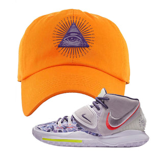Kyrie 6 Asia Irving Dad Hat | All Seeing Eye, Orange