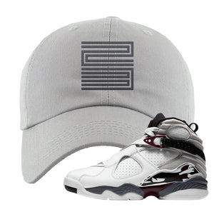 Air Jordan 8 Beetroot Dad Hat | Jordan 11 23, Light Gray