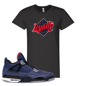 Jordan 4 WNTR Loyal Blue Loyalty Black Sneaker Hook Up Women's T-Shirt