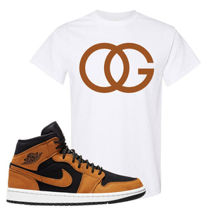 Air Jordan 1 Mid Wheat T Shirt | OG, White