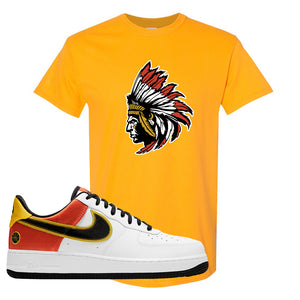 Air Force 1 Low Roswell Rayguns T Shirt | Indian Chief, Gold