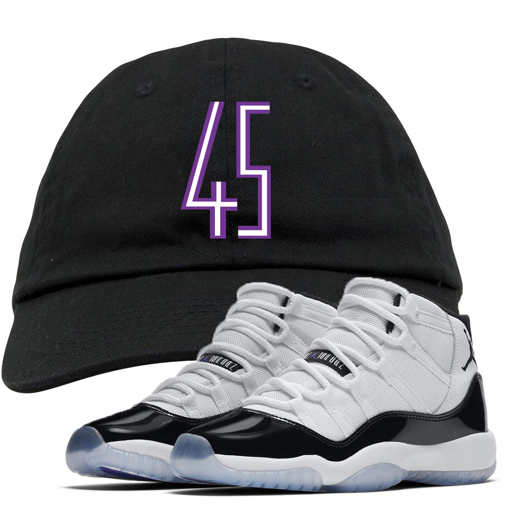 9ff41ff4c001 The Jordan 11 Concord 45 sneaker matching dad hat perfectly pairs up with  the Jordan 11
