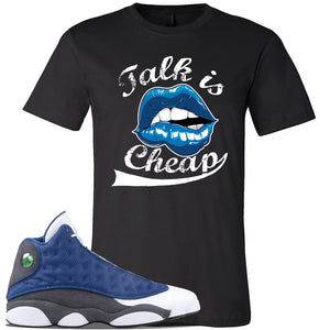 Jordan 13 Flint 2020 Sneaker Black T Shirt | Tees to match Nike Air Jordan 13 Flint 2020 Shoes | Talk Is Cheap
