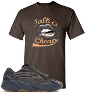 Yeezy Boost 700 Geode Sneaker Hook Up Talk Is Cheap Dark Chocolate T-Shirt
