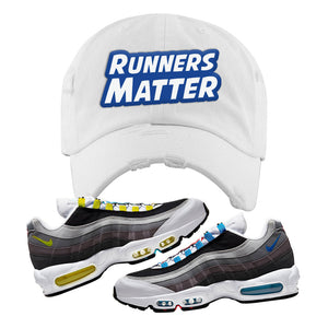 Air Max 95 QS Greedy Distressed Dad Hat | White, Runners Matter