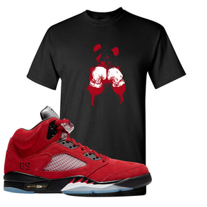 Air Jordan 5 Raging Bull T Shirt | Boxing Panda, Black