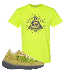 Yeezy Boost 380 Hylte Glow T Shirt | All Seeing Eye, Safety Green